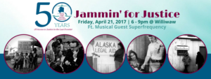 Jammin' for Justice is April 21st at Williwaw!