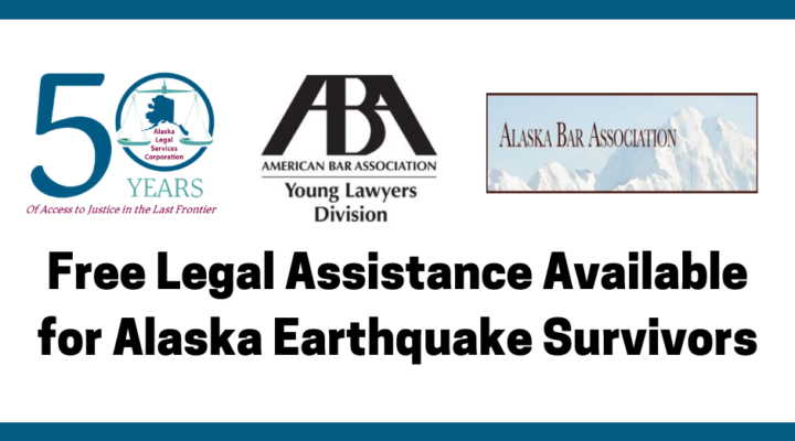Free Legal Hotline for Alaskans Impacted by November Earthquake