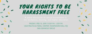 UAA Panel Discussion: Your Rights to be Harassment Free